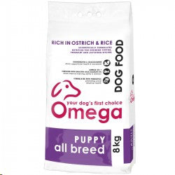 Omega All Breed Puppy Ostrich and Rice