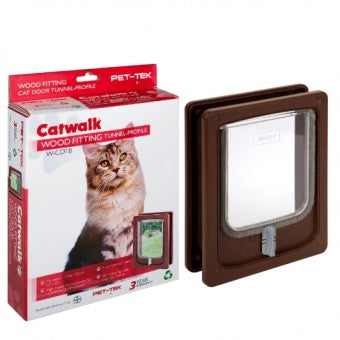 Cat / Dog flap - Door, Wood Fitting (Tunnel) - The Vet Store Online