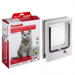 Cat / Mini Dog Flap - Door, Wood Fitting Multi-Magnetic - The Vet Store Online
