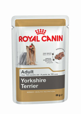 Royal Canin YORKSHIRE TERRIER Adult Pouch (12 x 85g) - The Vet Store Online
