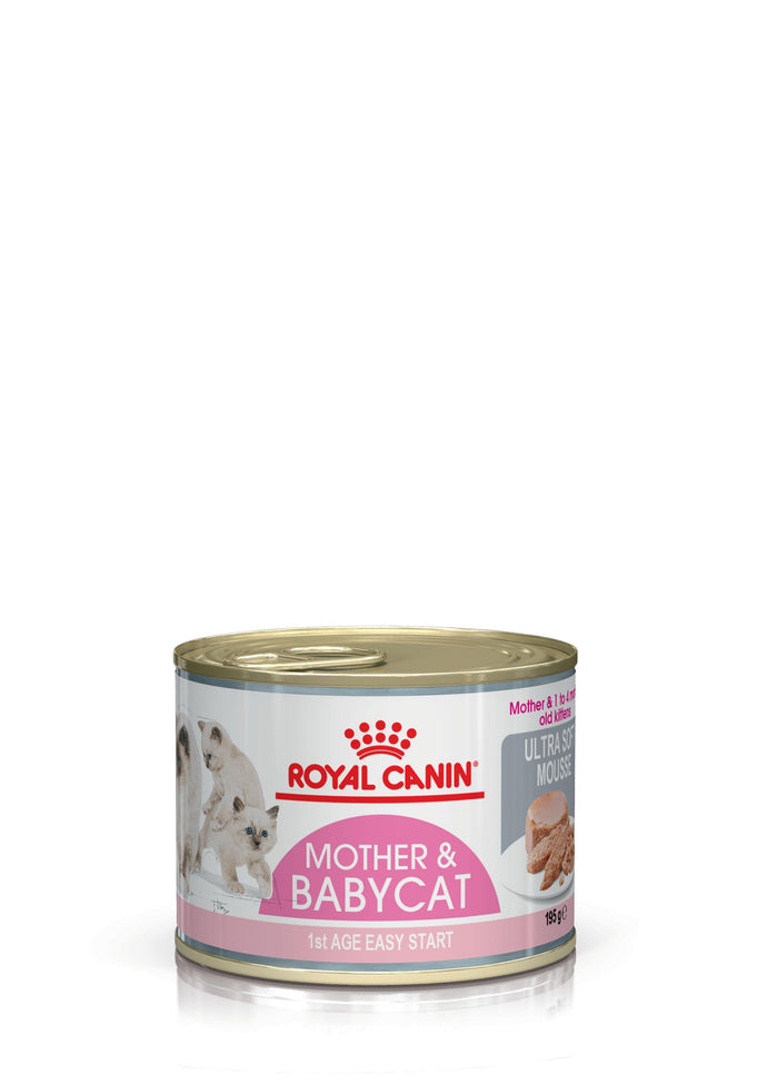 Royal Canin Mother & Babycat Ultra Soft Mousse (12 x 195g) - The Vet Store Online