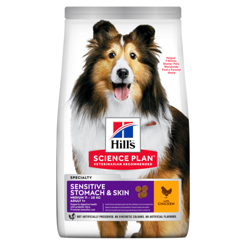 Hill's™ Science Plan™ Canine Adult Sensitive Stomach & Skin with Chicken - The Vet Store Online