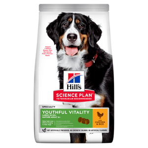 Hill's™ Science Plan™ Canine Adult 5+ Youthful Vitality Large Breed with Chicken and Rice 12kg - The Vet Store Online