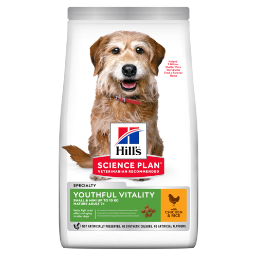 Hill's™ Science Plan™ Canine Adult 7+ Youthful Vitality Mini with Chicken & Rice - The Vet Store Online