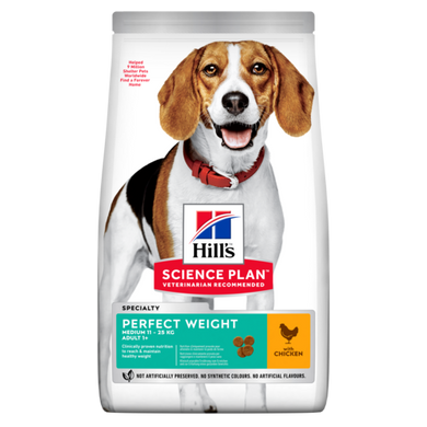 Hill's™ Science Plan™ Canine Adult Perfect Weight Medium with Chicken 10kg - The Vet Store Online