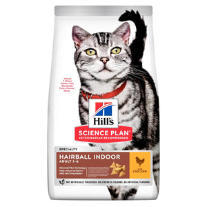 Hill's Science Plan Adult Hairball Indoor Dry Cat Food Chicken Flavour