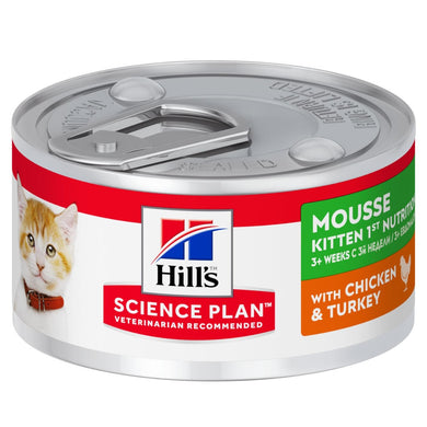 Hill's™ Science Plan™ Kitten 1st Nutrition Mousse with Chicken and Turkey 82g - The Vet Store Online