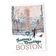 Load image into Gallery viewer, Season's Greetings from Boston Greeting Card