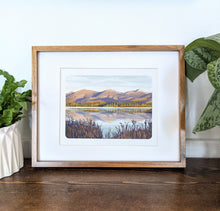 Load image into Gallery viewer, Cherry Pond, New Hampshire, 8x10 Framed Art Print - Kat Maus Haus