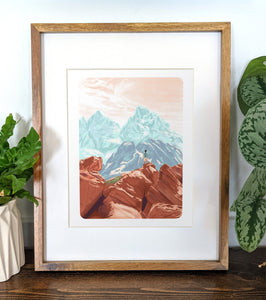 Grand Teton National Park, 8x10 Framed Art Print - Kat Maus Haus