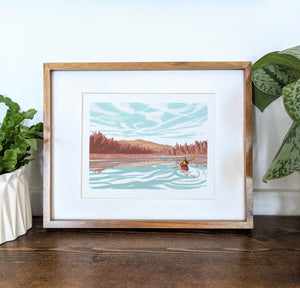 Kezar Lake, Maine, 8x10 Framed Art Print - Kat Maus Haus