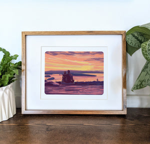 Cadillac Mountain, Maine, 8x10 Framed Art Print - Kat Maus Haus