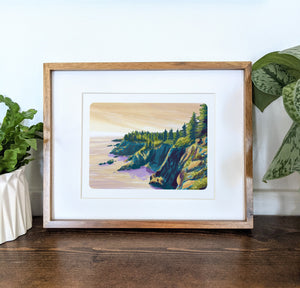 Quoddy Head State Park, Maine, 8x10 Framed Art Print - Kat Maus Haus