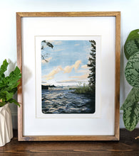 Load image into Gallery viewer, Lake Winnipesaukee, New Hampshire, 8x10 Framed Art Print - Kat Maus Haus