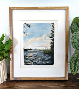 Lake Winnipesaukee, New Hampshire, 8x10 Framed Art Print - Kat Maus Haus
