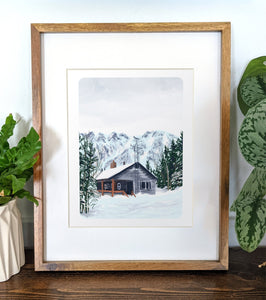 Hermit Lake Shelter, New Hampshire, 8x10 Framed Art Print - Kat Maus Haus