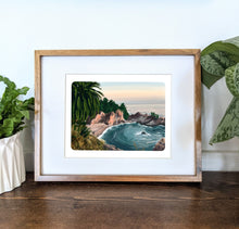 Load image into Gallery viewer, McWay Falls, California, 8x10 Framed Art Print - Kat Maus Haus
