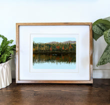 Load image into Gallery viewer, Fall Reflections, 8x10 Framed Art Print - Kat Maus Haus
