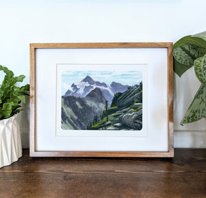 Mt. Shuksan, Washington, 8x10 Framed Art Print - Kat Maus Haus
