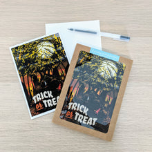 "Load image into Gallery viewer, ""Trick or Treat"" Halloween Greeting Card"