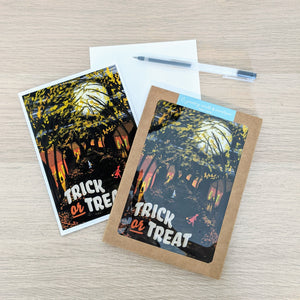 """Trick or Treat"" Halloween Greeting Card"