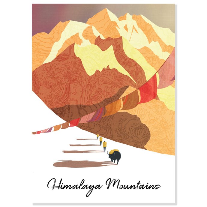 Himalaya Mountains Postcard