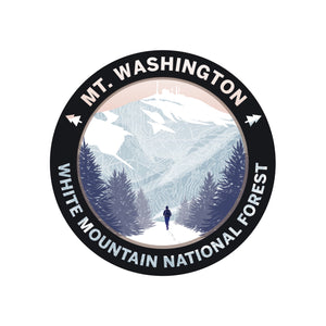 Set of 5 Vinyl White Mountain Stickers