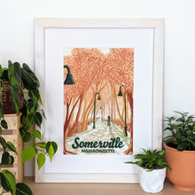 Load image into Gallery viewer, Somerville Art Print 12x18 Framed - Kat Maus Haus