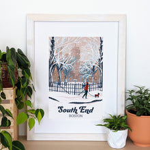 Load image into Gallery viewer, South End Art Print 12x18 Framed - Kat Maus Haus