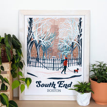 Load image into Gallery viewer, South End Art Print 16x22 Framed - Kat Maus Haus