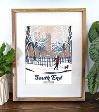Load image into Gallery viewer, South End  Art Print 8x10 Framed - Kat Maus Haus
