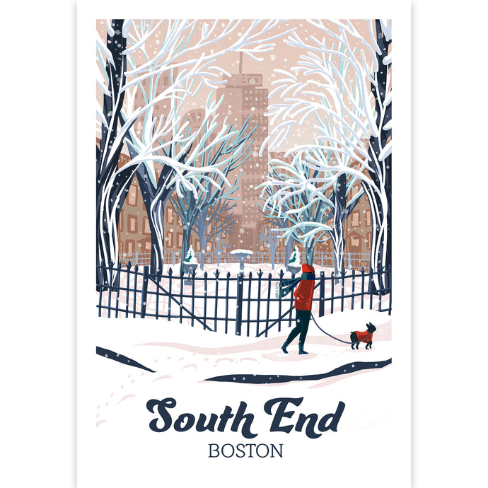 South End Boston Illustration