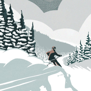 Wildcat Skiing Illustration