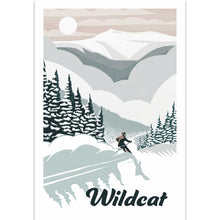Load image into Gallery viewer, Wildcat Skiing Illustration