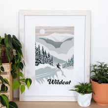 Load image into Gallery viewer, Wildcat Art Print 12x18 Framed - Kat Maus Haus