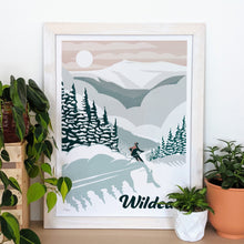Load image into Gallery viewer, Wildcat Art Print 16x22 Framed - Kat Maus Haus