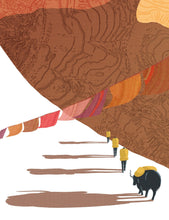 Load image into Gallery viewer, Himalayas Print Detail 1 - Kat Maus Haus