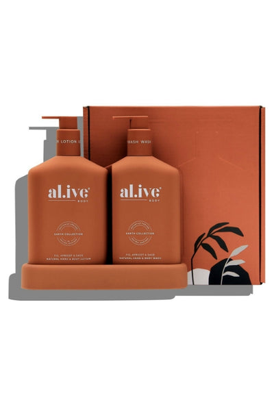 AL.IVE WASH LOTION DUO TRAY FIG APRICOT SAGE