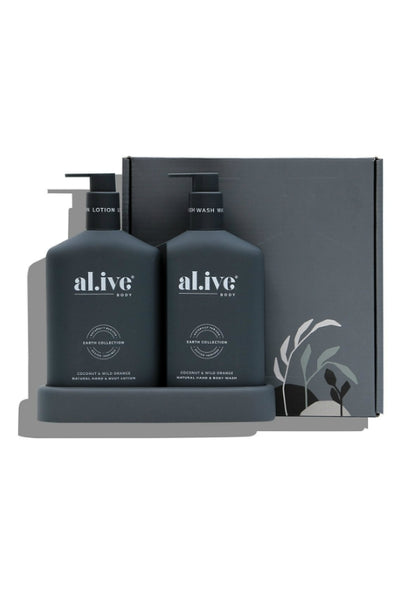 AL.IVE WASH LOTION DUO TRAY COCONUT AND WILD ORANGE
