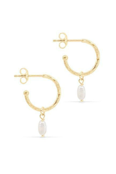BY CHARLOTTE ETERNAL PEACE HOOPS GOLD PEARL