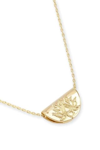 BY CHARLOTTE GOLD SHORT LOTUS NECKLACE