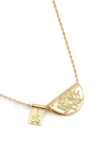 BY CHARLOTTE LOTUS AND LITTLE BUDDHA NECKLACE