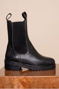 JAMES SMITH COMO COMBAT BOOT BLACK LEATHER