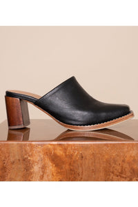 JAMES SMITH MILANESE MULE BLACK