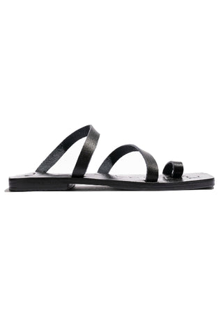 JAMES SMITH CARO SLIDE BLACK LEATHER FREE SHIPPING