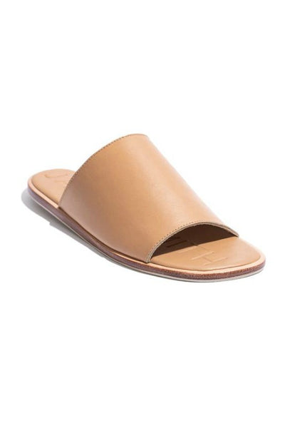 JAMES SMITH DA ADOLFO LEATHER SLIDE TAN