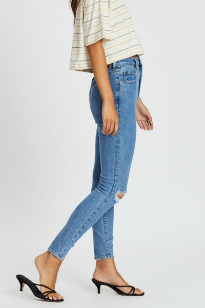 LEE JEANS HIGH LICKS CROP WORN BEAUTY JEANS