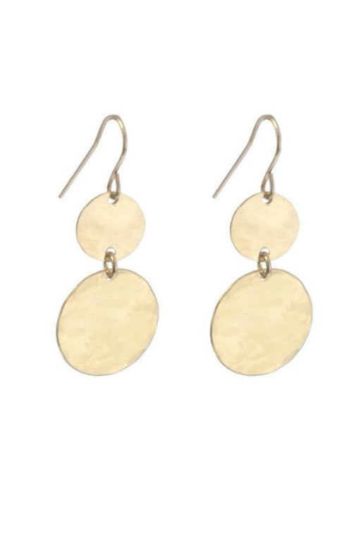 MISUZI DOUBLE DISC EARRINGS
