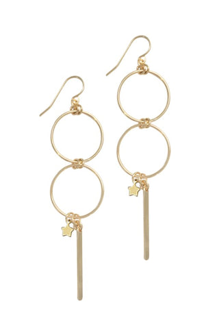 MISUZI DOUBLE RING EARRING