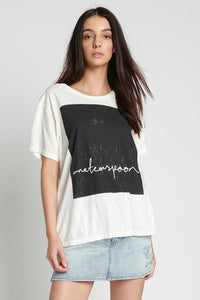 ONETEASPOON BLACK RADICAL BOYFRIEND TEE